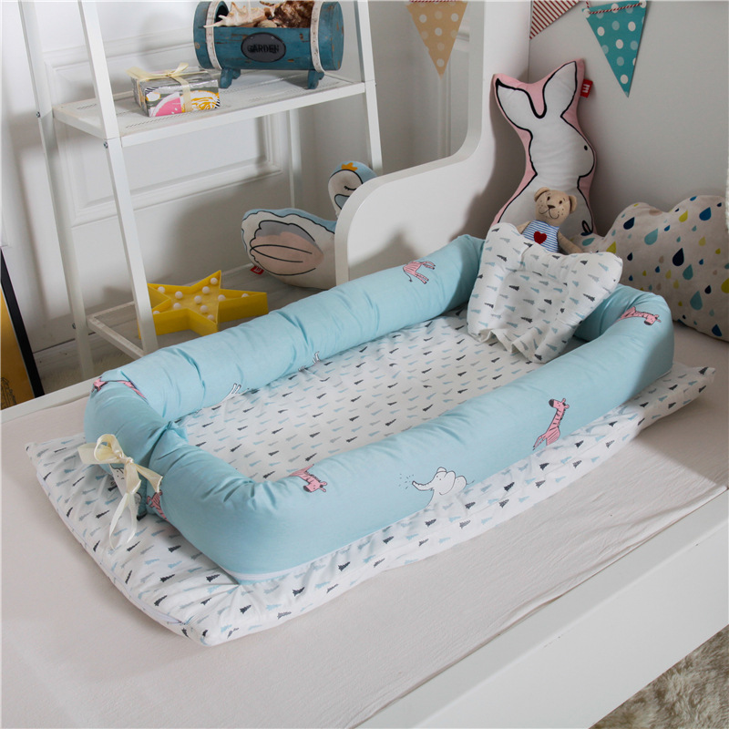 Baby Nest Bed Portable Crib Folding Newborns Cots Nursery Sleep Nest Baby Cradle Comfortable Cotton Bed Carry Cot YHM049