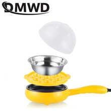 DMWD Multifunction Mini Egg Omelette Pancake Electric Non-Stick Fried Steak Frying Pan Boiled Eggs Boiler Cooker Food Steamer EU