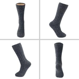 Image 4 - 3 Pairs Pack Merino Wol Vrouwen/Mannen Sokken Top Grade Merk Hennep Winter Warme Dikke Coolmax Kousen Sneeuw Boot dames/Man Sokken