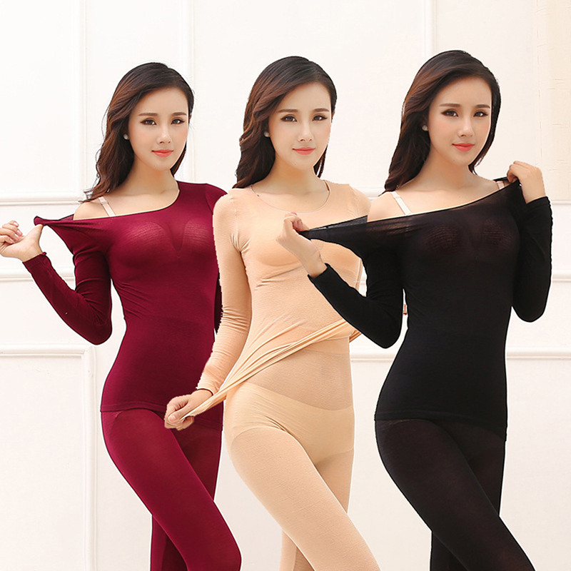 Thermal Underwear For Women Warm Long Johns Women's Seamless Winter Thermal Underwear Set Thermos Lingerie Intimates Women/Men