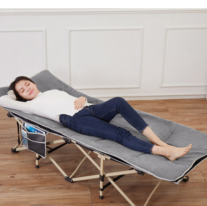 Multifunctional Household Folding Bed Single Office Simple Marching Escort Adult Lunch Break Recliner Nap Bed Portable