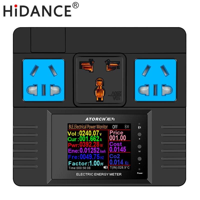 HiDANCE AC Измеритель мощности 85-265 в цифровой счетчик мощности счетчик энергии ватт монитор стоимости электроэнергии измерительный анализатор...