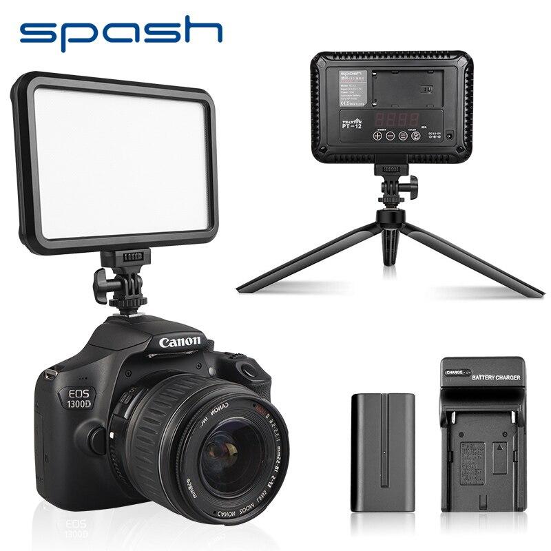 Spash TL-12 światło led do kamery oświetlenie fotograficzne na gorącej stopce aparatu Bi-kolor ściemniania Vlog lampa światła wypełniającego dla kamera dv