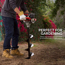 Spiral Hole Drill Planting Grass Plug Auger Multi Functional Planter Drill Grass Garden Seeder Tools Grass Auger for Gardening