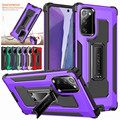 For Samsung Galaxy Note 20 Ultra Case Dual Layer Armor Stand Rugged Silicone Phone Cover For Samsung S9 S10 S21 Plus S20 FE Case