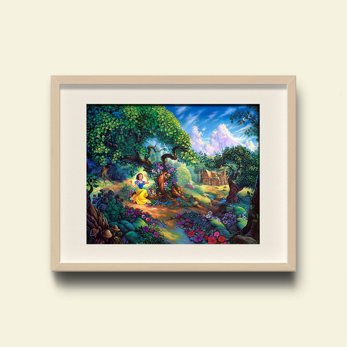 DHgate Modern Wall Art Snow White Princess Magic Forest Home Decorative Painting