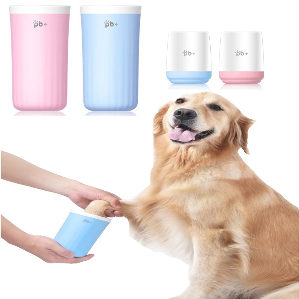 <font><b>Dog</b></font> <font><b>Paw</b></font> <font><b>Cleaner</b></font> Cup Soft Silicone Combs Portable Pet Foot Washer Cup <font><b>Paw</b></font> Clean Brush Quickly Wash Dirty Cat Foot Cleaning Bucket image