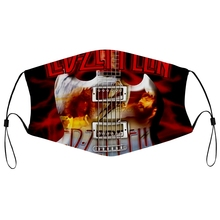 Dust-Mask Led-Zeppelin FILTER Mouth with Men Alexcmarshall Men's Leisure Sports Black