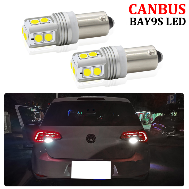 2x CANBUS Error Free Bright White 10-SMD <font><b>BAY9S</b></font> <font><b>H21W</b></font> <font><b>LED</b></font> Bulbs For Volkswagen VW Golf MK7 GTD GTI R <font><b>LED</b></font> Reverse Light image