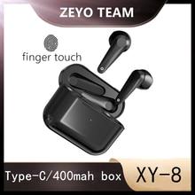 XY-8 TWS Bluetooth 5,0 наушники, настоящие беспроводные наушники-вкладыши, порт type-c, обнаружение, умное Сенсорное шумоподавление, водонепроницаемост...