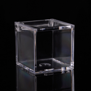 Image 5 - 12pcs 아크릴 사탕 상자 명확한 초콜렛 음식 급료 플라스틱 결혼식 당 호의 포장 상자 생과자 콘테이너 보석 저장 상자