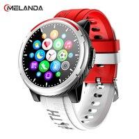 MELANDA-reloj inteligente para hombre y mujer, pulsera con Bluetooth, llamada, pantalla HD completamente táctil, resistente al agua, multimodo, deportivo, para Android e IOS