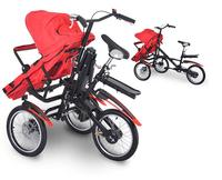 תגה x טיולים אופני עגלת אמא תינוק תלת אופן תאום poussette