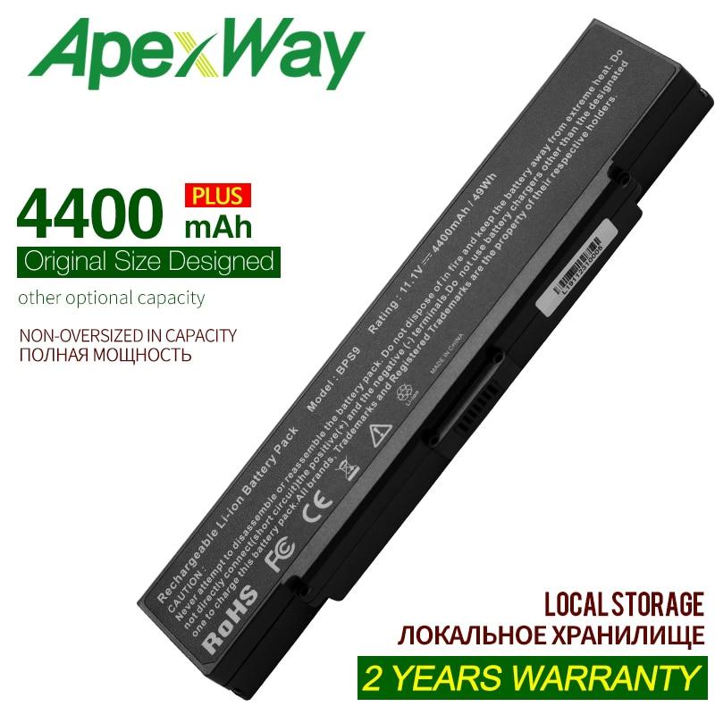 ApexWay 11.1V High Capacity 4400mAh Battery For Sony VGP-BPS10 VGP-BPS9 VGP-BPS9A/B VGN-AR49G  VGP-BPS9/B VGP-BPS9/S VGN-AR41E