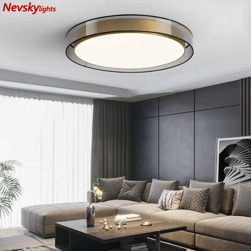 Brass ceiling lights living room copper ceiling lamps bedroom Kitchen fixture dining room led ceiling light loft copper lighting