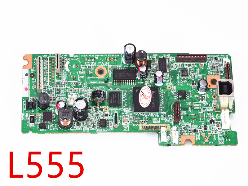 MainBoard for Epson L220 L355 L100 L210 L565 L300 L110 L455 L555 L380 L383 L350 L351 L200 L360 printer Mother Board