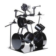 1pc Tambor Modelo Criativo Decorativo Durável Ferro Drum Set Drum Set Modelo Favores Para O Escritório Sala de Aula Casa Loja
