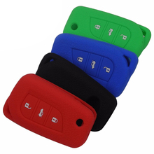3 Buttons Silicone Car Styling Cover Case  For Toyota Camry Highlander Corolla Prado Reiz Crown RAV4 Remote Key Fob