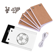 Flip Book Kit with Light Pad LED Light Box Tablet 300 Sheets Drawing Paper Flipbook with Binding Screws for Drawing Tracing