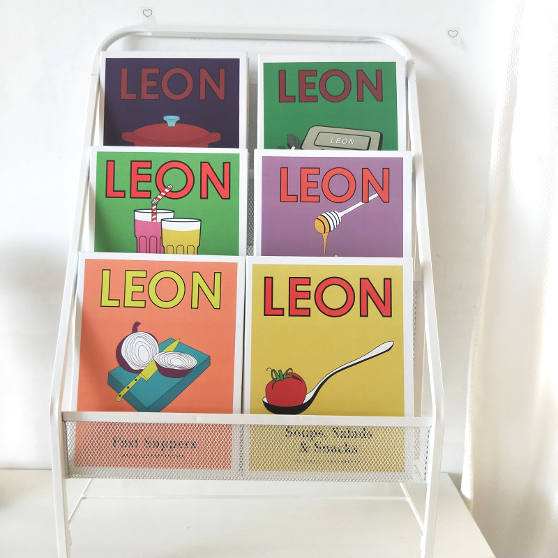 Ins LEON Magazine Notebook Hard Case Creative Stationery Posing Props Books