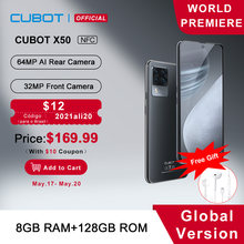 Cubot X50 Smartphone 8GB RAM 64MP Quad Camera 6.67
