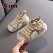 DIMI 2020 Summer Baby Shoes Knitting Breathable Infant Sanda