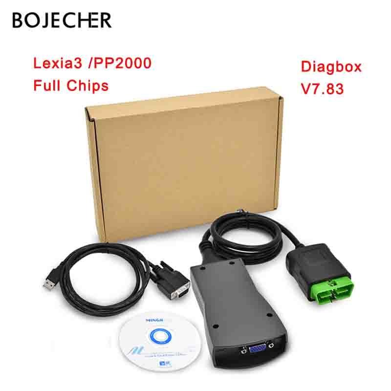 Lexia3 Full Chip Lexia 3 PP2000 V48/V25 Diagbox V7.83 Lexia 3 921815C Firmware For Citroen Scanner Automotriz Diagnostic Tool