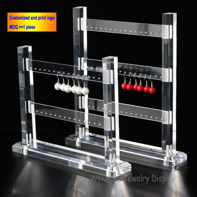 High Quality Acrylic 2-3-4 Layers Earring Display Stand Earring Display Rack  Earring Stud Holder Shelf Jewelry Holder Showcase