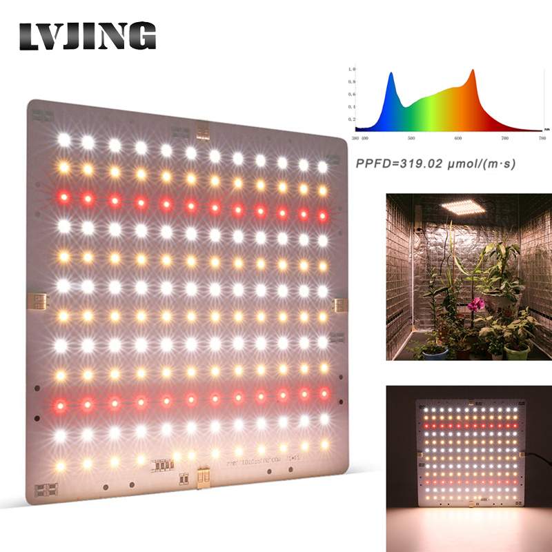 New Led <font><b>Grow</b></font> Light Ultra-thin Panel Full Spectrum Phyto Lamp For Indoor Plants Leds Fitolamp <font><b>Grow</b></font> <font><b>Tent</b></font> with 36V 5A Power Supply image