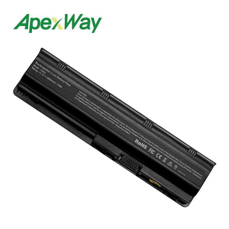 Apexway 593553-001 аккумулятор большой емкости MU06 аккумулятор для ноутбука hp CQ42 CQ43 CQ56 для hp павильон G4 G6 G7 DV6 DV7 DM4 MU09 MU06 Аккумулятор для ноутбука