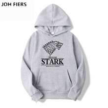 2019 New TOP Quality Game of Thrones Men Hooded Sweatshirt Stark Autumn Print Style Male Top Fitness Brand Clothing