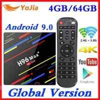 4GB RAM 64GB ROM 4K Dispositivo de TV inteligente Android 9,0 H96 MAX Plus RK3328 Set top box 2,4/5G WIFI H96Max + Youtube reproductor de medios 2G16G
