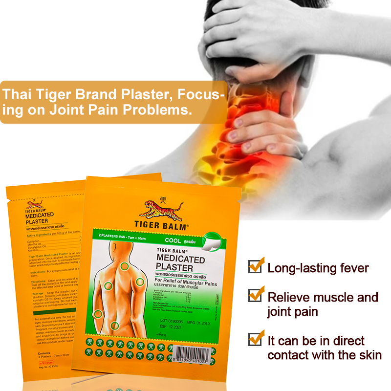 Ultimate Sale╙Sumifun Thailand Tiger-Balm Relief-Patch Muscle-Joint-Arthritis Herbal-Pain Chinese Plaster
