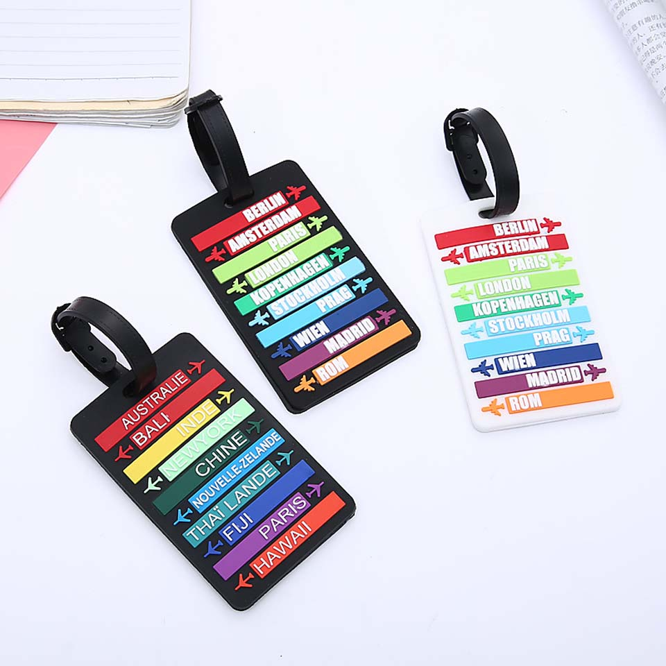Mcnee Suitcase Luggage Portable Tags Identifier Label ID Address Holder Protection Cover Luggage Tag Travel Accessories New