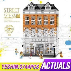 3744 шт MOC Creator Crystal House Bricks City Street Серия Модель Строительные блоки детские игрушки для детей подарки на день рождения