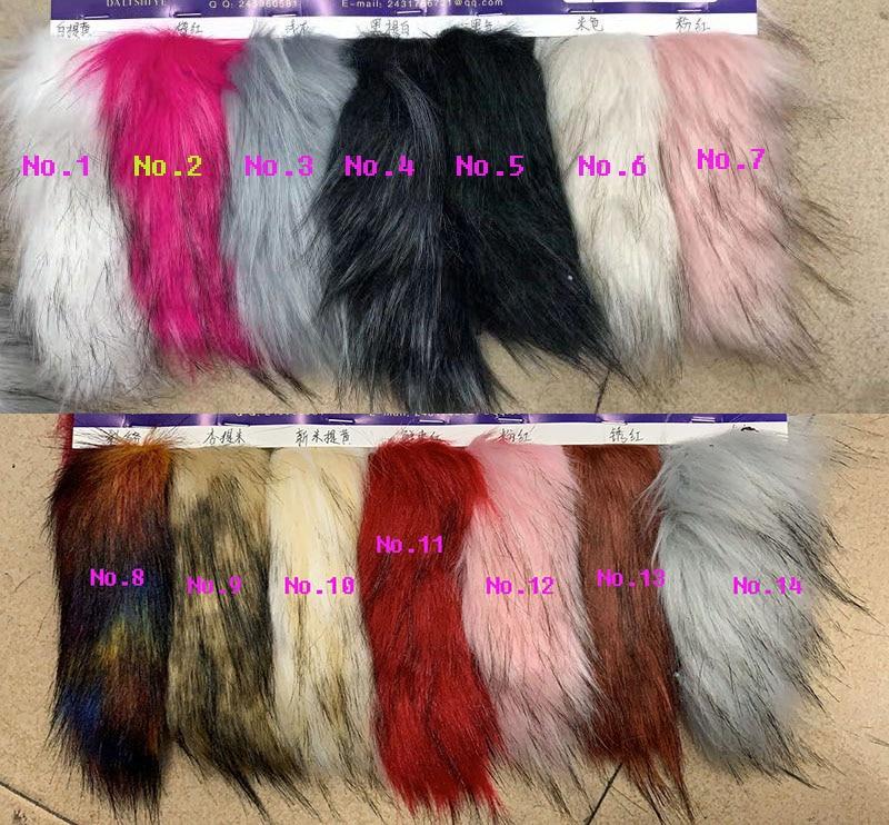 Tissu en peluche longue imitation de raton laveur épais de haute qualité, tissu en fausse fourrure décoratif COSPLAY, 160cm * 45cm (demi-cour)/pièces