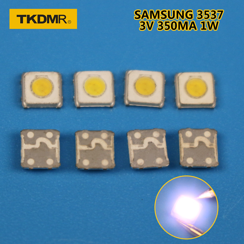 50pcs SAMSUNG LED Backlight High Power LED 1W 3537 3535 100LM Cool White LCD Backlight For TV TV Application SPBWH1332S1BVC1BIB