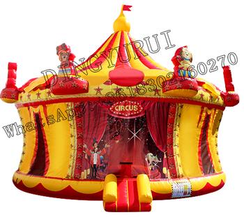 Cyrk projekt nadmuchiwany zamek do skakania dzieci skoczek pcv trampolina dziecko skoki dom tanie i dobre opinie DINGYURUI 3 lat Nadmuchiwany plac zabaw dla dzieci Plac zabaw na świeżym powietrzu Duża trampolina Inflatable Bouncer