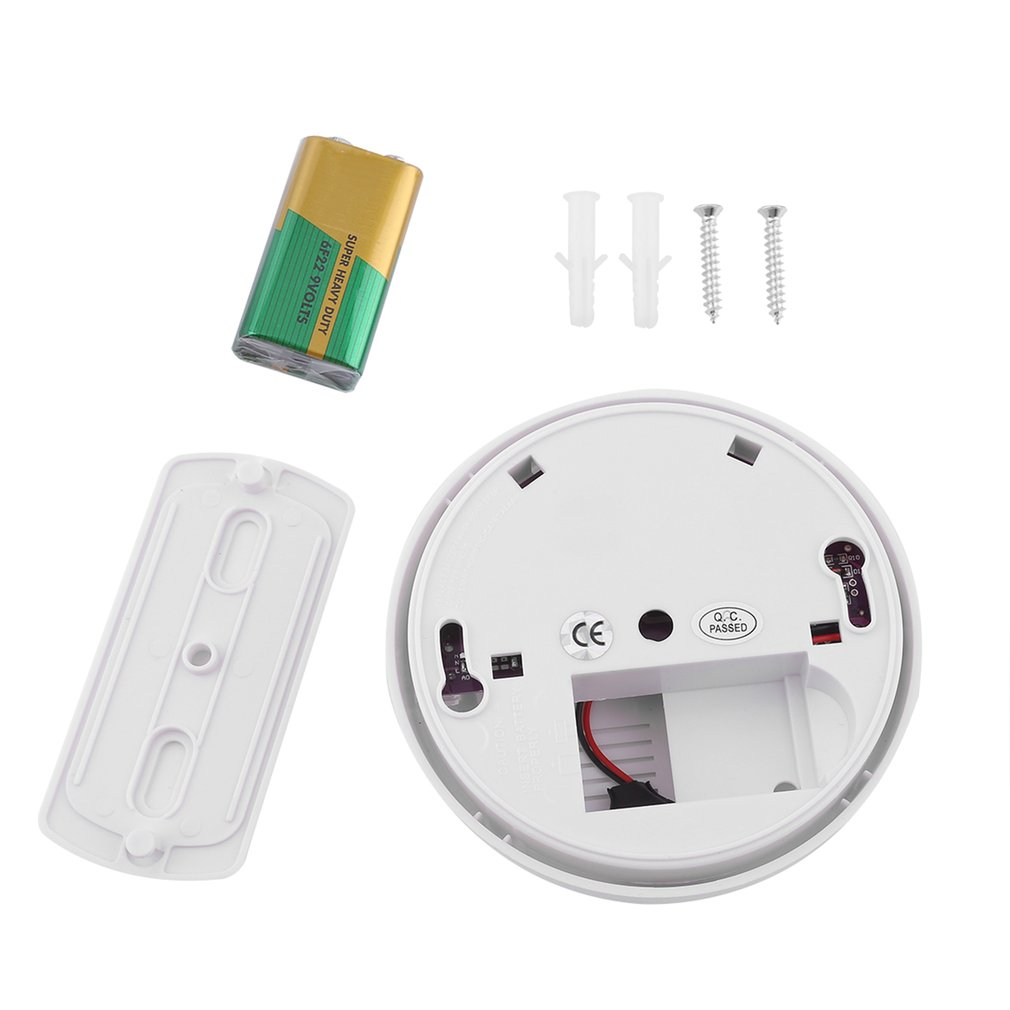 10PCS Smoke Detector 84db Alarm Signal Smoke Sensor Detection Home Safety Security Ceiling Or Wall Mounting With 9V Battery