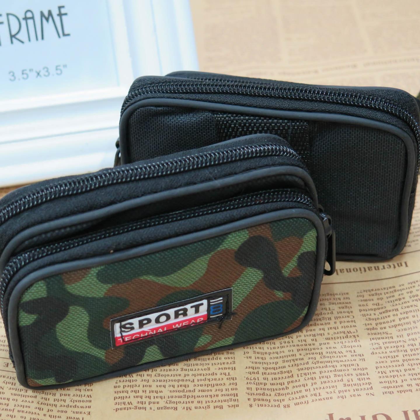 Men Mobile Phone Waist Bag Wear Leather Belt Multi-functional Casual Change Key Mini Bag Casual Camouflage