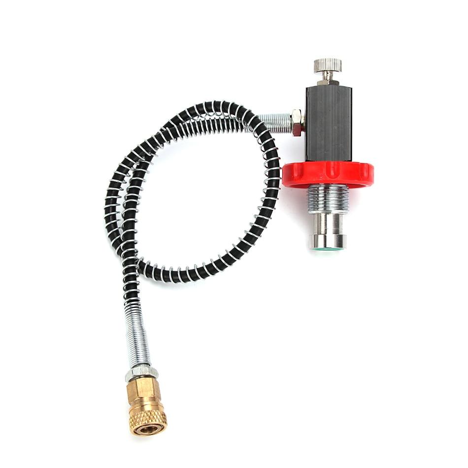 PCP Scuba Diving Valve Filling Station CO2 Filling Valve G5/8 300bar Small Gauge Carbon Fiber Cylinder Air Refill Adapter