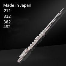 Topo japão flauta 271 382 profissional cupronickel c chave 16 buraco flauta banhado a prata instrumentos musicais com caso e acessórios