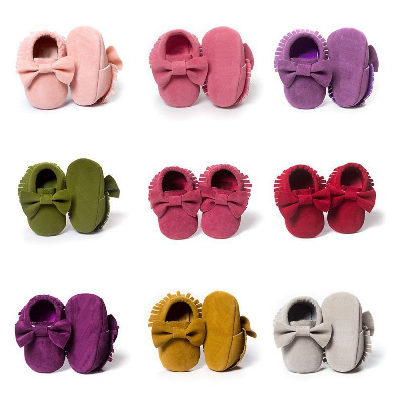 Baby Shoes Moccasins PU Newborn Brand Baby Shoes Moccasins First Walkers Fringe Moccasins Non-slip Footwear SHoes