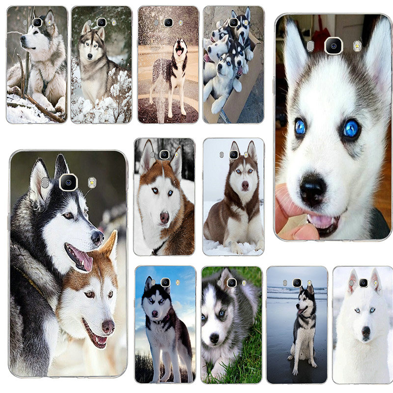 Soft Phone Case TPU Silicon Cover for Samsung S3 S4 S5 Mini S6 S7 Edge S8 S9 S10 Plus Lite Note 8 9 Aladdin <font><b>Siberian</b></font> <font><b>Husky</b></font> Dog image