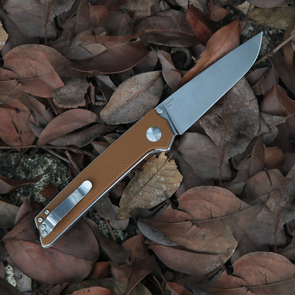Tools : Kizer hunting knife brown G10 handle domin essencial edc tools