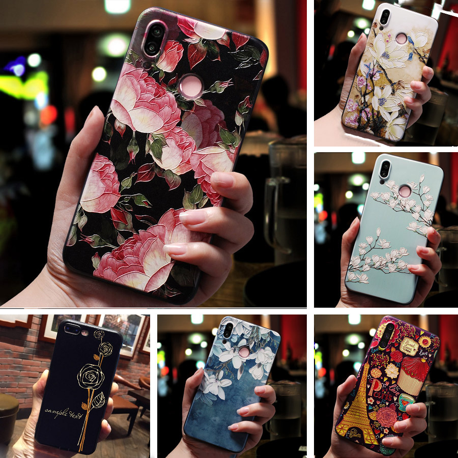 <font><b>3D</b></font> Relief Floral Phone Case For Huawei <font><b>Honor</b></font> <font><b>7A</b></font> Pro <font><b>Honor</b></font> 7C Y5 Lite Y6 Prime 2018 Y5 <font><b>7A</b></font> <font><b>DUA</b></font> <font><b>L22</b></font> Case Emboss TPU Silicon Cover image