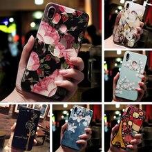 3D Relief kwiatowe etui na telefon dla Huawei P Smart Plus 2019 2018 P Smart Z PSmart case Emboss etui silikonowe Z tpu dla Huawei P Smart
