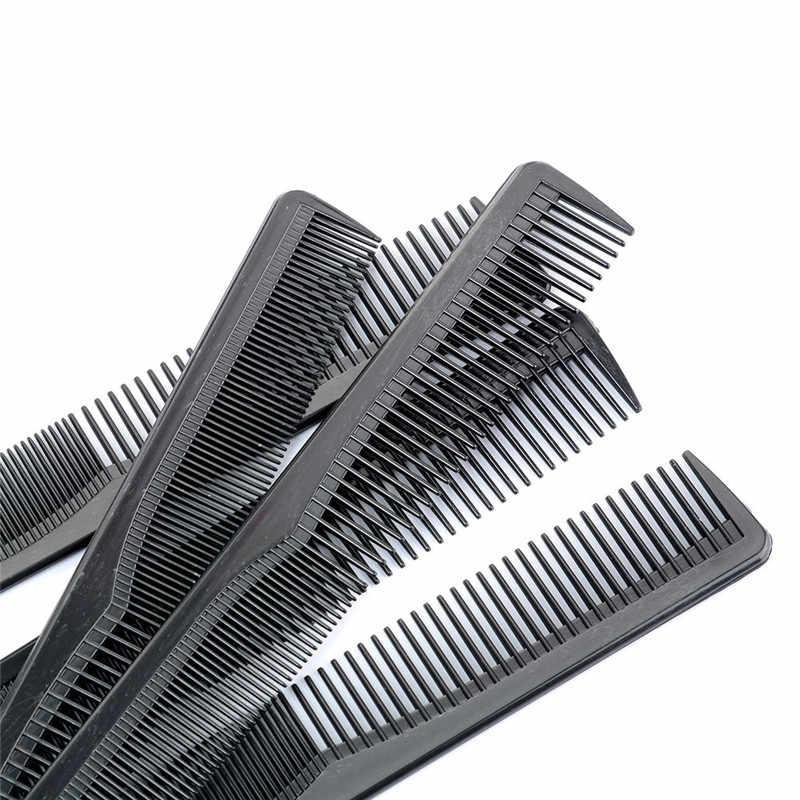 Grosir 8Pcs Plastik Antistatik Tata Tata Rambut Sisir Klip Rambut Klip Salon Styling Alat Menunjuk Sisir