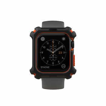 UAG Watch1/2/3/4/5 דאי שעון להקת מגן מקרה חיצוני ספורט לנשימה נגד זיעה 44mm Watchcase שחור ולבן עם פאט