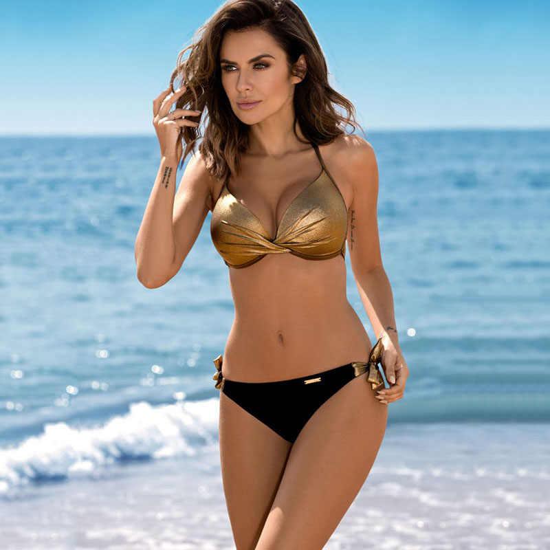 Chisalis Sexy Swimsuit Women Bikini 2019 Print Push Up Swimwear Women Brazilian Bikini Set Beach Bathing Suit biquini floral
